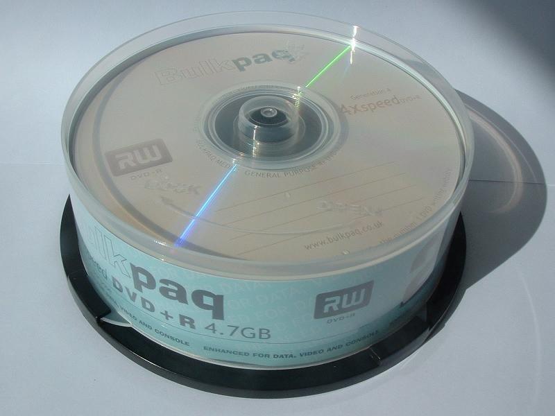 DVD Media and Blu-ray Disc Media list