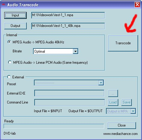 how to get audio menu on vcd