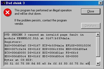 DVD shrink error - VideoHelp Forum