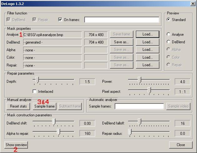 delogo filter for virtualdub