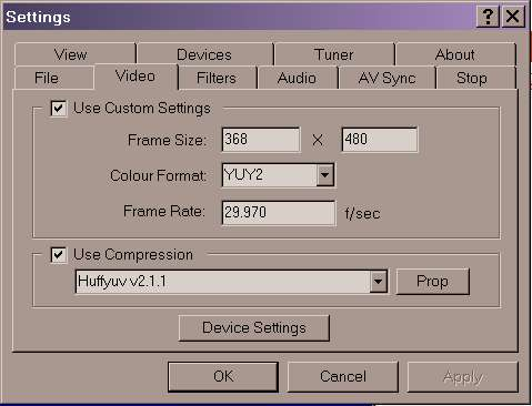virtual vcr settings for capturing analog VHS - VideoHelp Forum