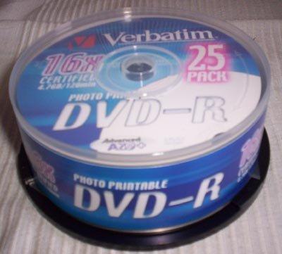 Verbatim Dvd R Mcc 03rg20 16x Dvd Media Videohelp