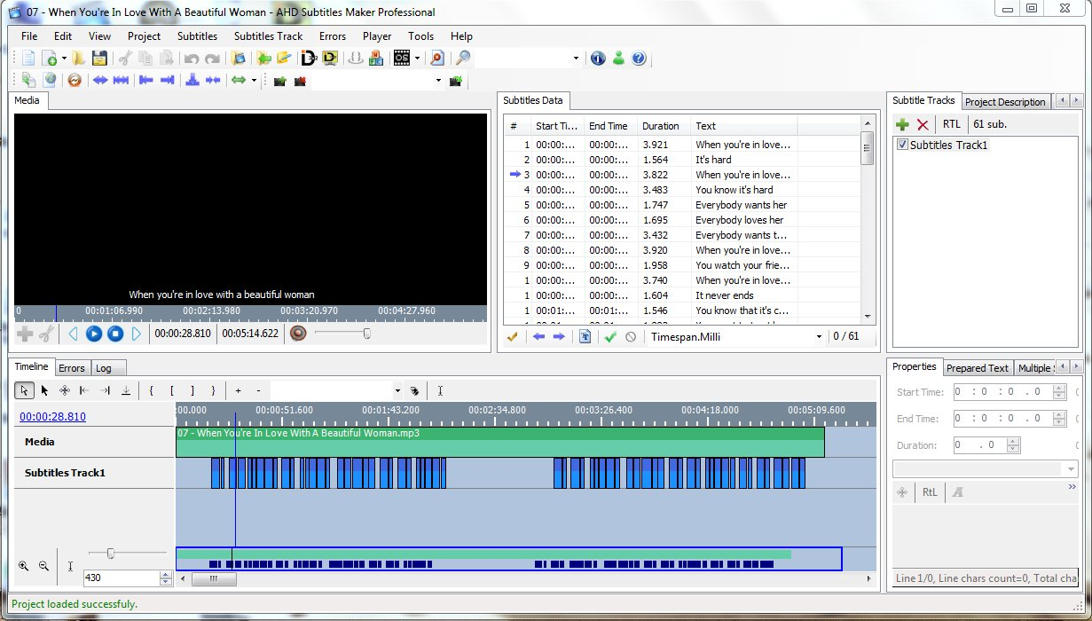 AHD Subtitles Maker 5 21 23 Free Download - VideoHelp