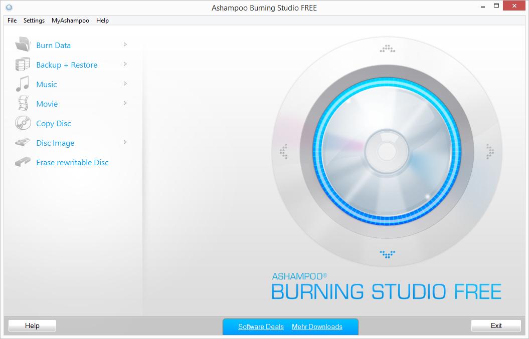 Скачать программу ashampoo burning studio 6
