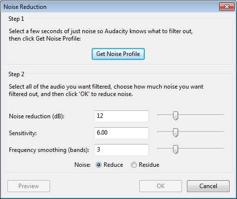 audacity noise removal download