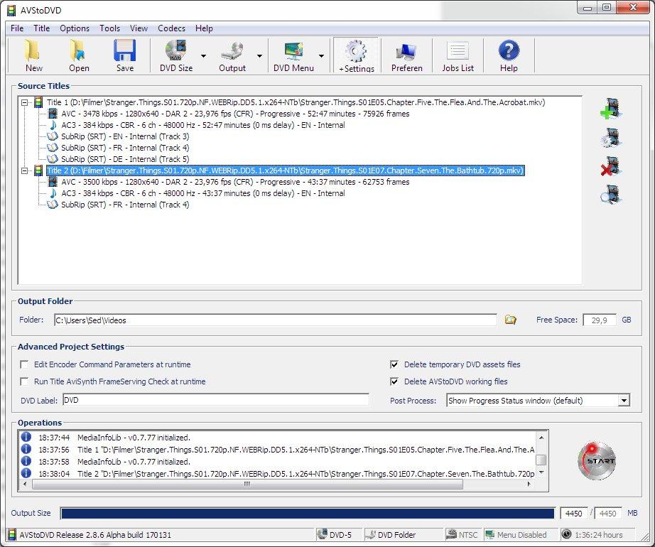 AVStoDVD full screenshot