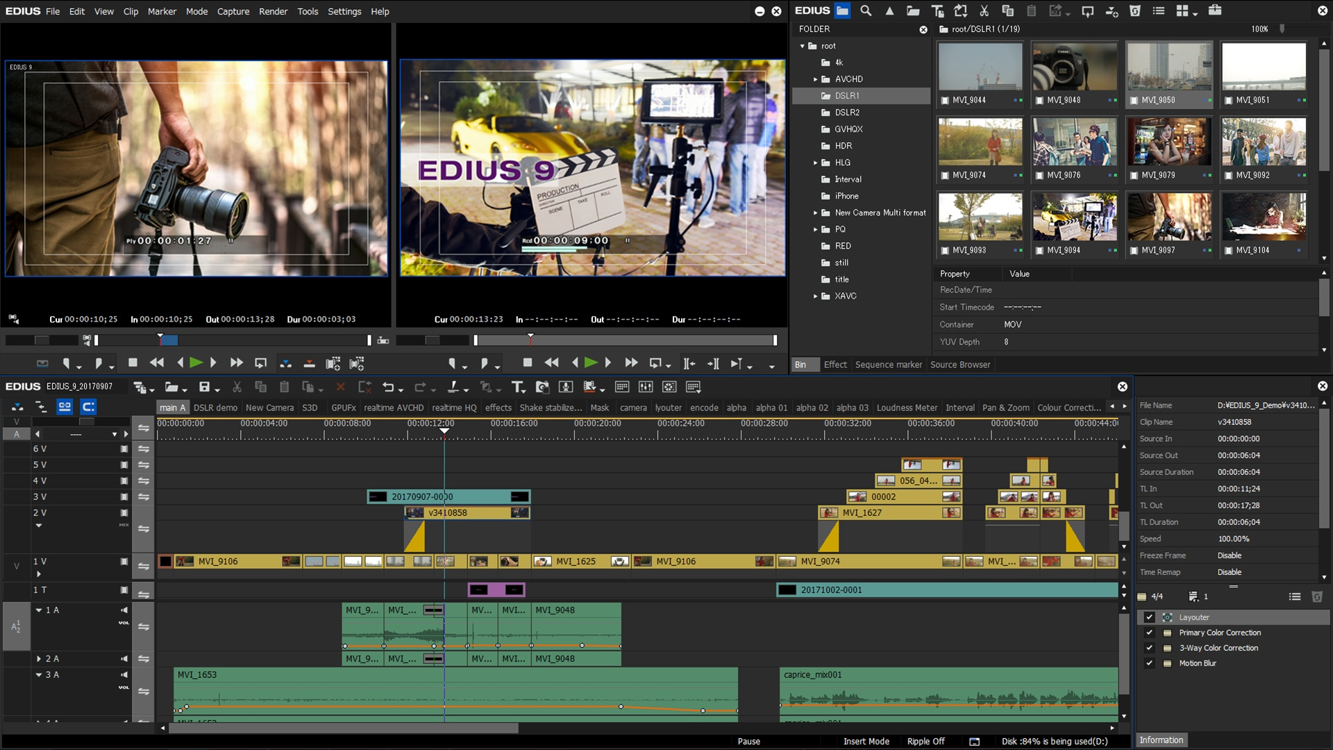 canopus hd video editing software