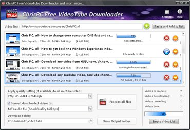 ChrisPC Free VideoTube Downloader Version History - VideoHelp