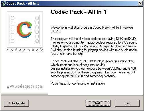 القسم الأول: برامج الأوديو والفيديو Part 1: Audio & Video Progs Codec_pack_all_in_1_674