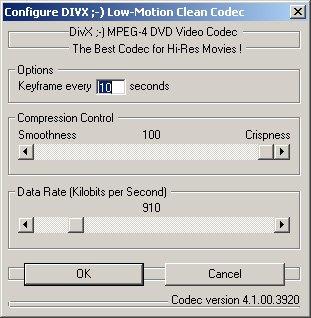 divx mpeg 4 low motion div3