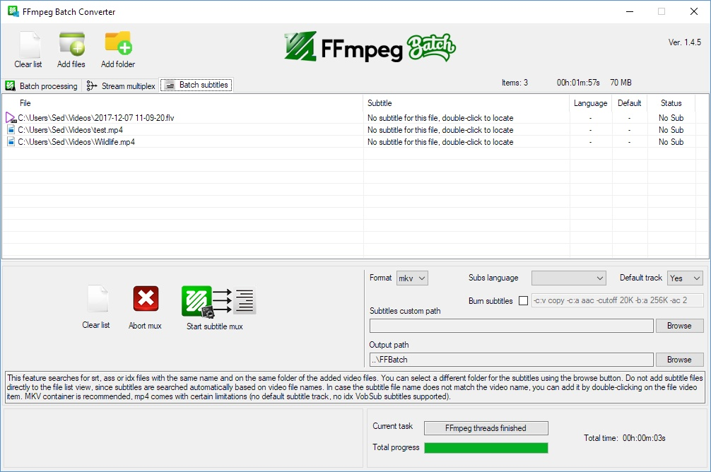 FFmpeg Batch Converter Version History - VideoHelp