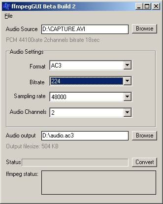 ffmpeg convert mp3 to ac3