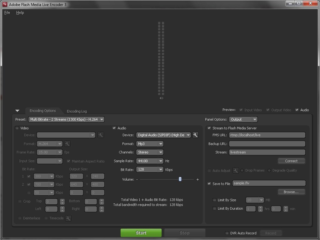 flash live media encoder