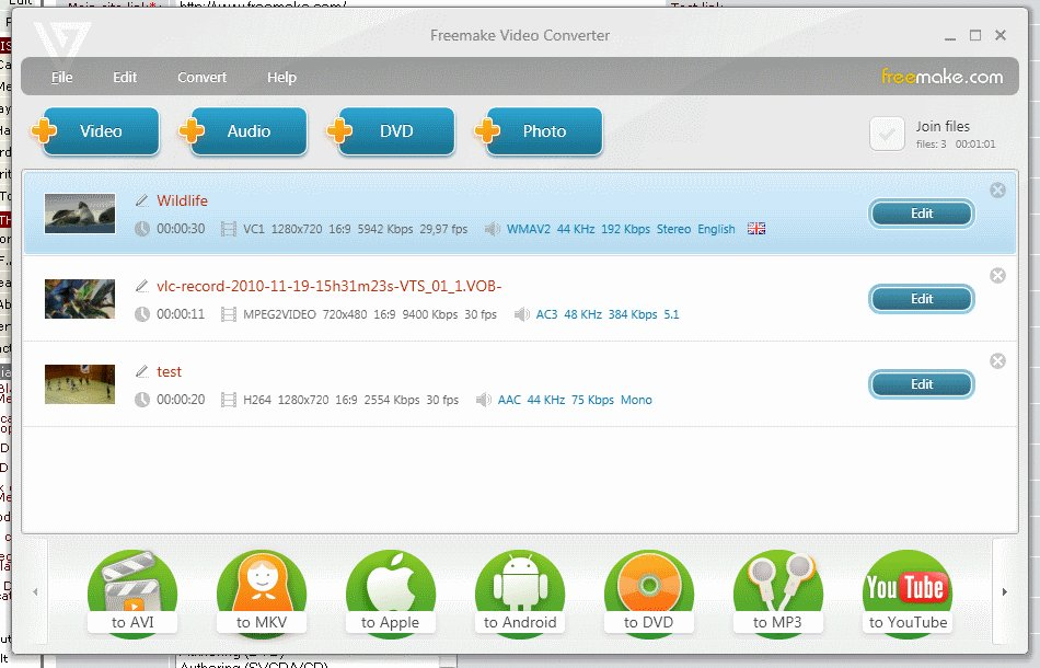 freemake video converter screenshot click to enlarge screenshot