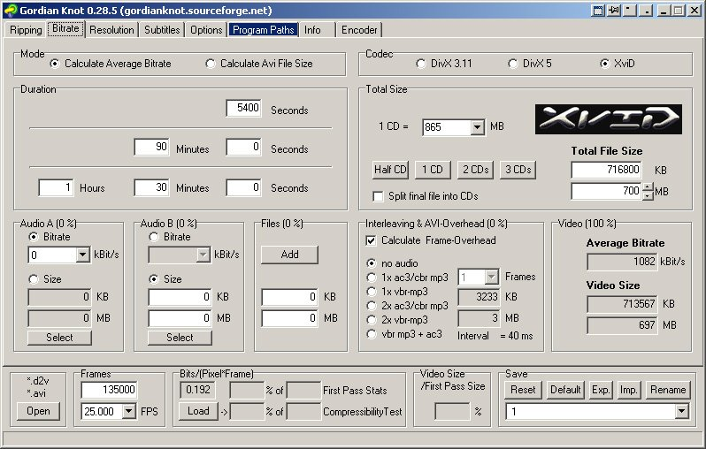 gordian knot codec pack