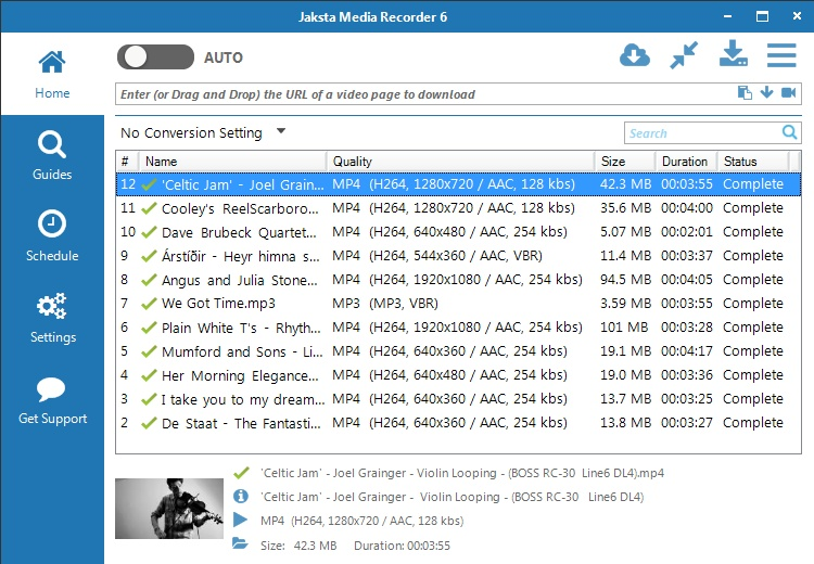 Jaksta Media Recorder Version History - VideoHelp
