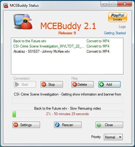 MCEBuddy screenshot