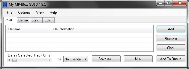 My MP4Box GUI 0 6 0 6 Free Download - VideoHelp