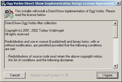 OGG DirectShow Filter / OggDS / OGM Codec 0 9 9 6 Free Download