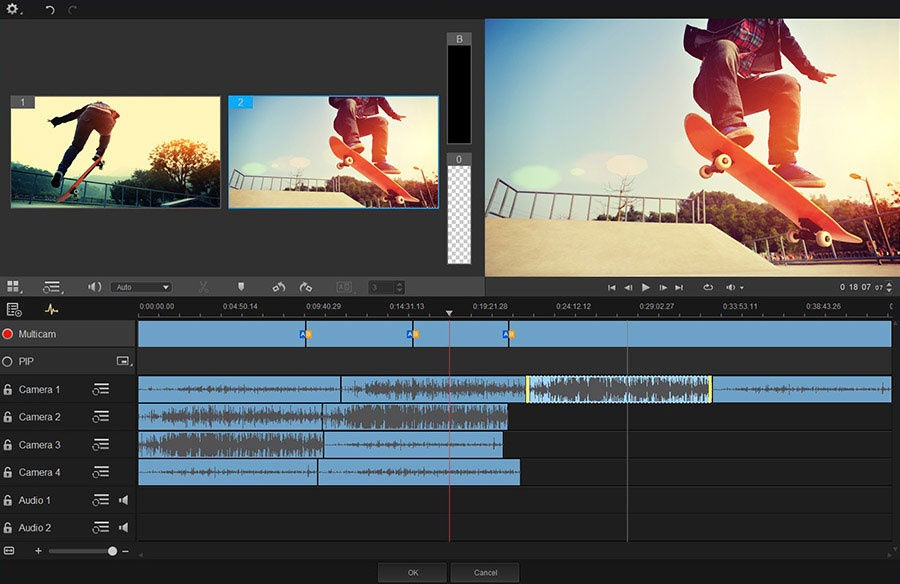 Flexible and creative video editing software
