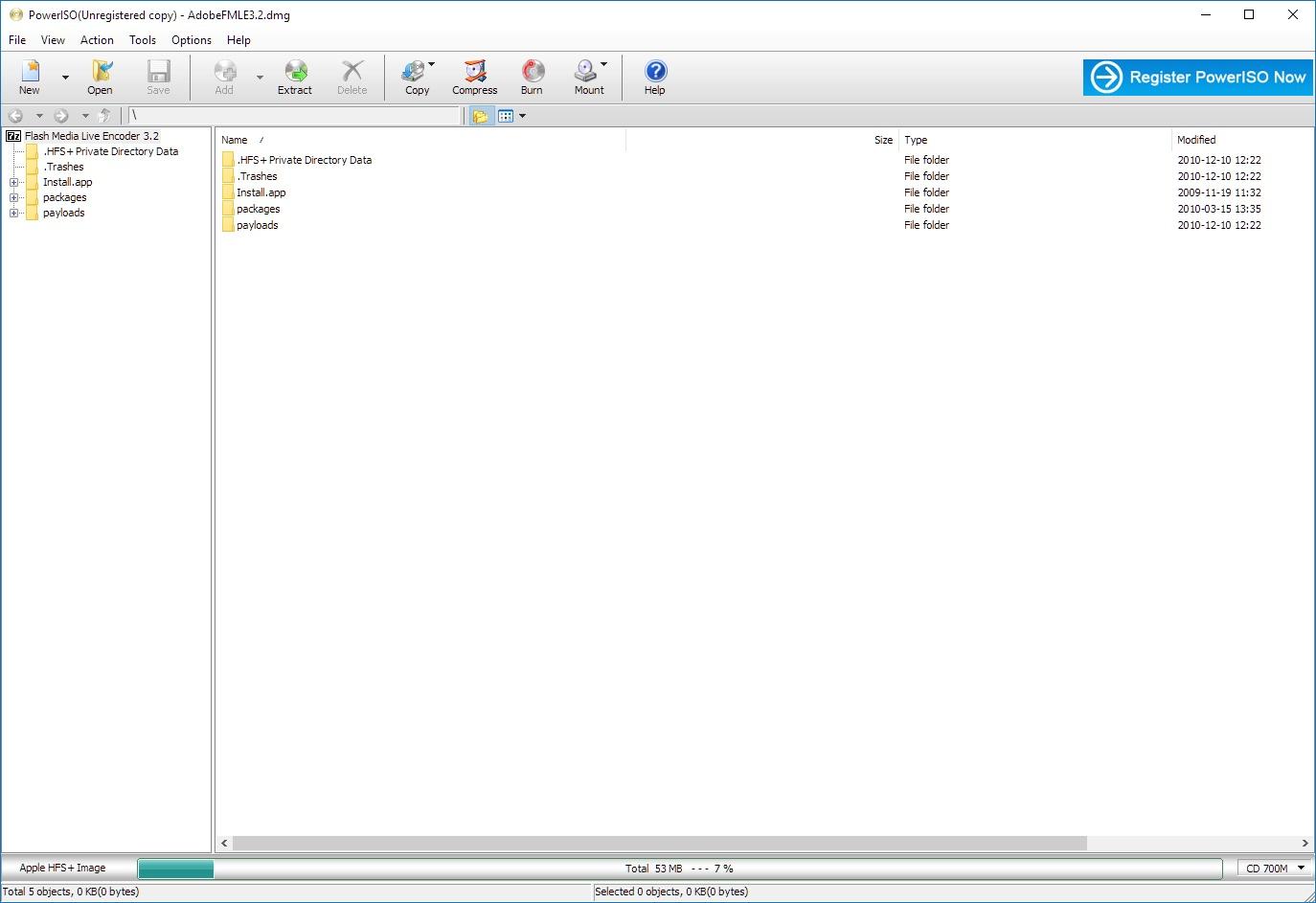 poweriso portable windows 7 64 bits