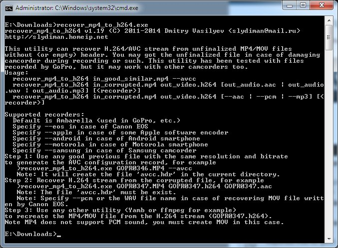 recover_mp4 1 92 Free / 3 0 Premium Service Free Download - VideoHelp
