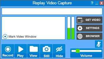 Download streaming video using copy and paste method in replay.