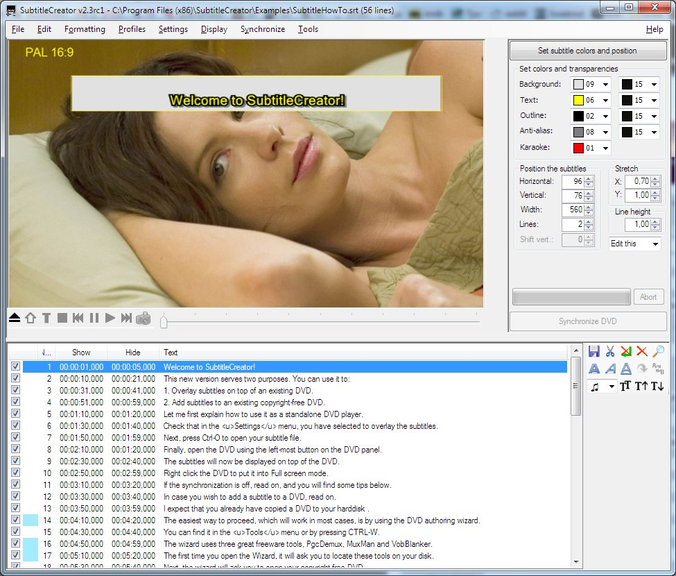 SubtitleCreator 2 2 / 2 3 RC1 Free Download - VideoHelp