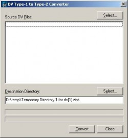 Ulead DV Type 1 to DV Type 2 Converter screenshot