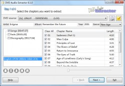 DVD Audio Extractor screenshot