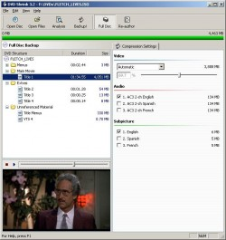 DVD Shrink screenshot