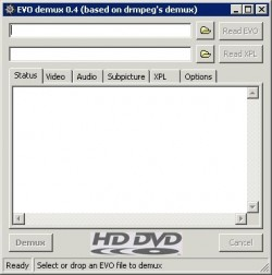 EVO demux screenshot