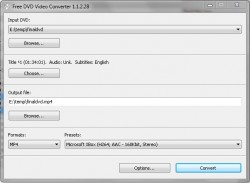 Free DVD Video Converter screenshot