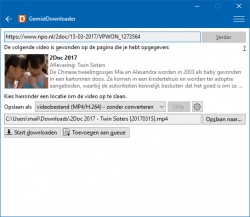 GemistDownloader screenshot