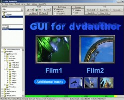 GUI for dvdauthor screenshot