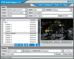 ImToo DVD Audio Ripper screenshot