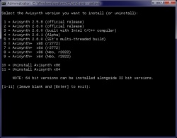 Universal Avisynth Installer screenshot