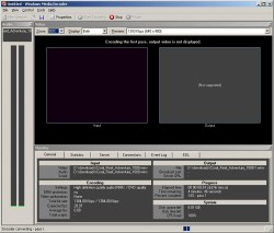 Windows Media Encoder screenshot