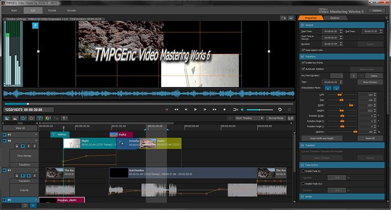 Другие скриншоты программы. Что нового В TMPGEnc Video Mastering