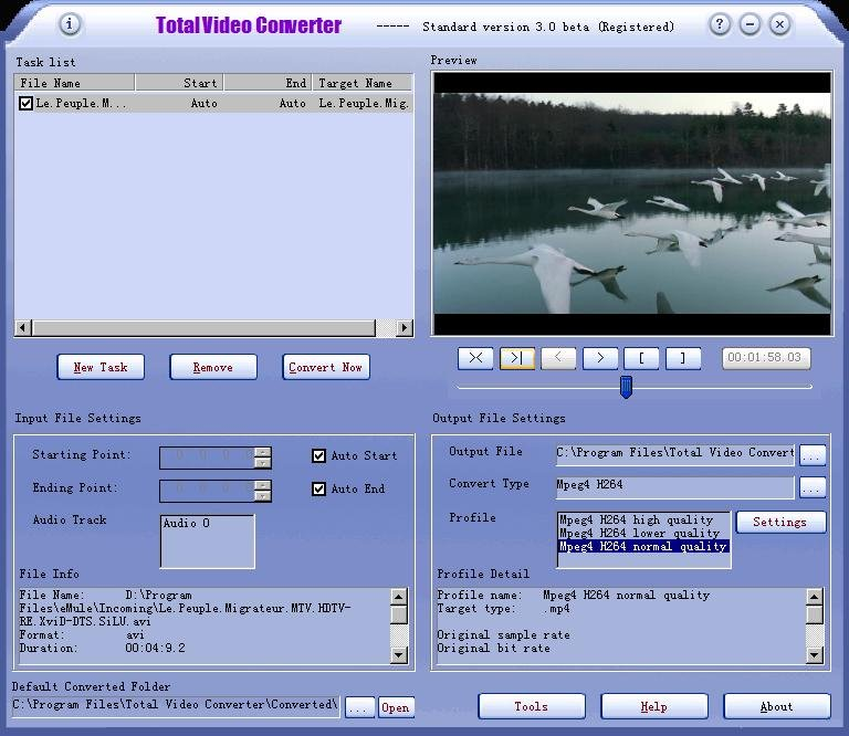 Total Video Converter gives you the ability