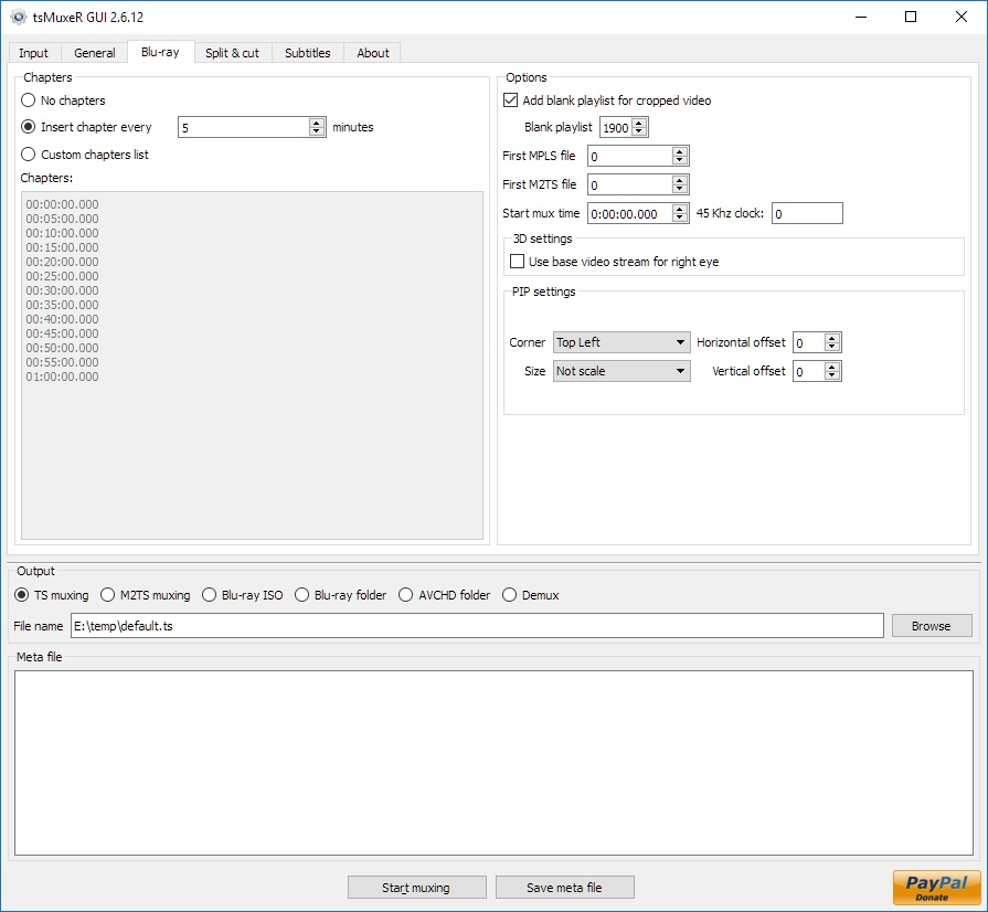 tsMuxeR 2 6 12 Free Download - VideoHelp