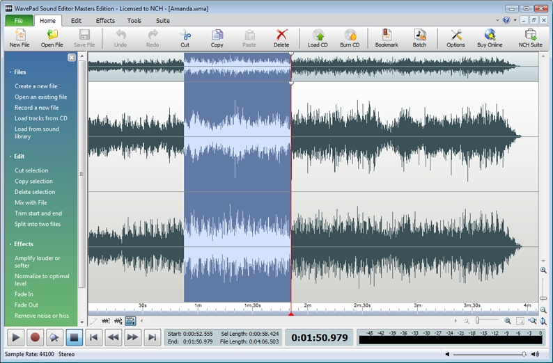 how to cut parts on audacity