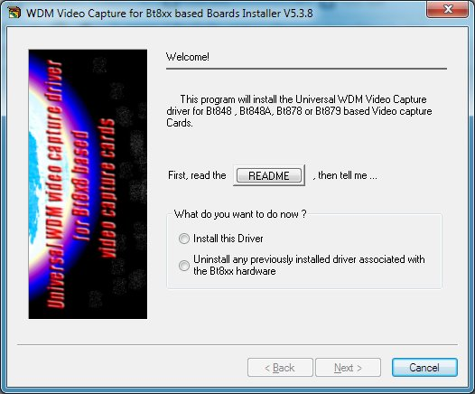 BT878 TV CARD CROSSBAR DRIVERS DOWNLOAD
