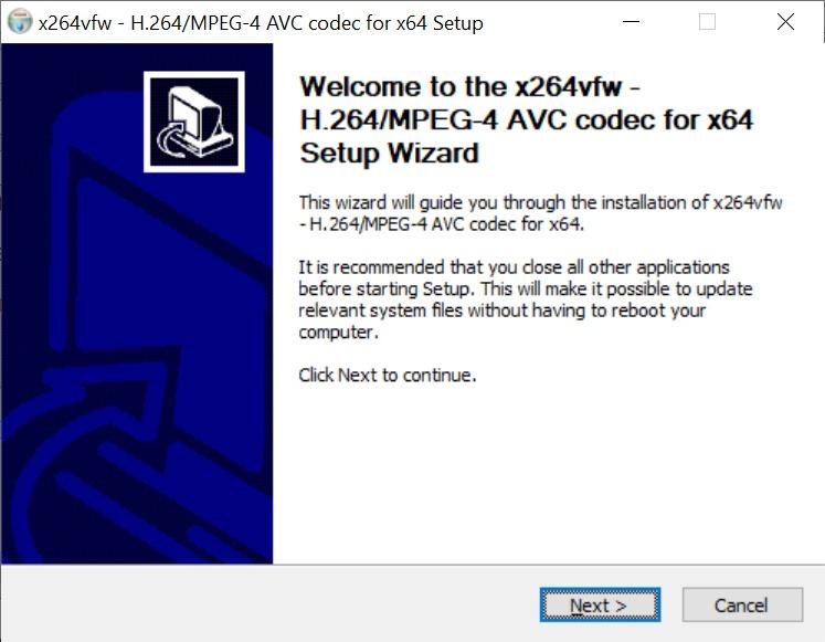 codecs vfw pour virtualdub