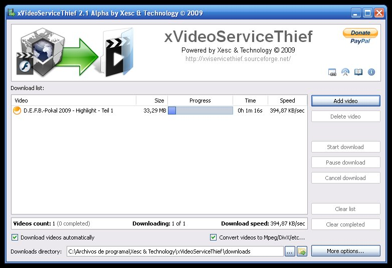 xVideoServiceThief Old Versions Downloads - VideoHelp